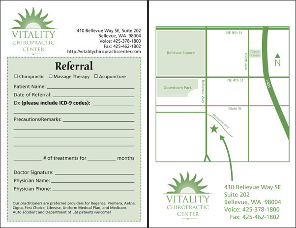 VCC referral notepad (front and back)
